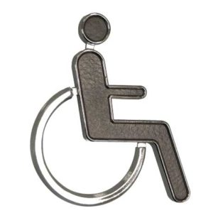 Black & Chrome 'Disabled' Sign. WR-SIGN-DISABLE-2