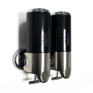 Shower Gel Soap Dispenser Double Black