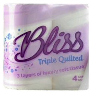 ulk Buy Bliss Toilet Rolls, Bliss Triple Quilted Toilet Tissue 10x4pk 3ply Loorolls