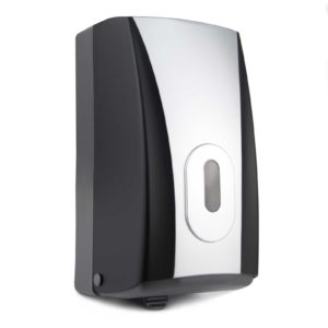 Toilet Tissue Dispenser Bulk Pack Black Silver