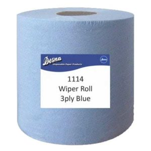 Jumbo 3ply Wiper Roll Blue 380m