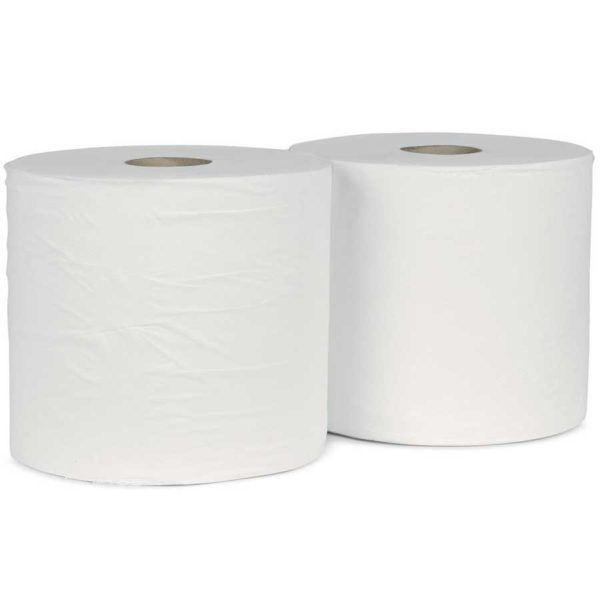 Jumbo Wiper Rolls 2ply White 1800 Sheet