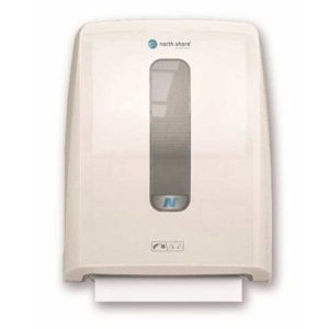 North Shore Mechanical Hands Free Towel Dispenser White