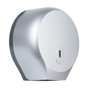 Toilet Roll Dispenser Round Mini Jumbo Silver WR-CD-8002C