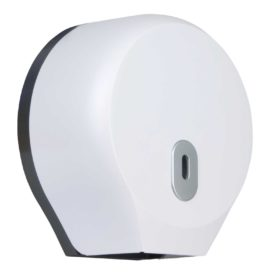 Toilet Roll Dispenser Round Mini Jumbo White WR-CD-8002A