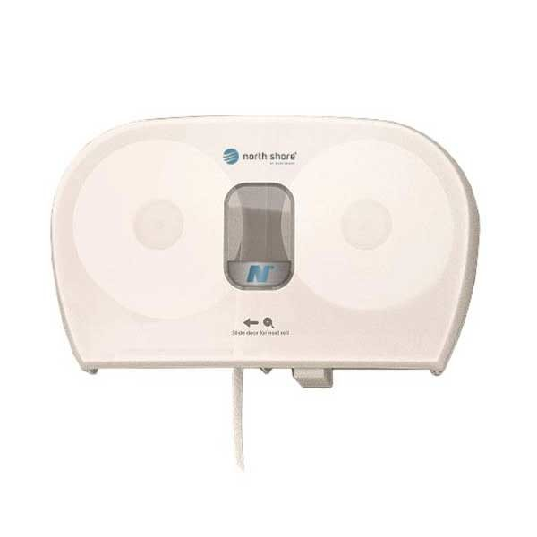 Side By Side Toilet Roll Dispenser White SBSWHTNS