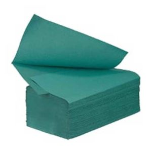 V Fold Fold Paper Hand Towels 1ply Green