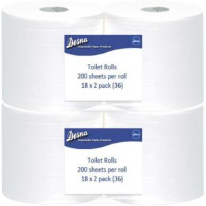 Value Toilet Rolls 200 Sheet 2ply White