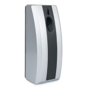 Airsenz Stripy Automatic Air Freshener Dispenser Silver Black, WR-CD-6100B