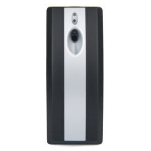 Stripy Automatic Air freshener, ABS Plastic Black & Silver