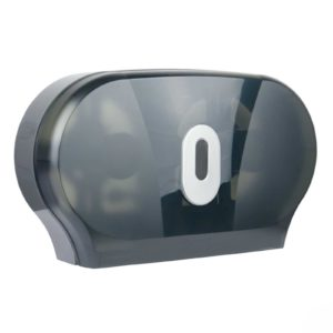 Toilet Roll Dispenser Twin Mini Jumbo Smoke Black, WR-CD-8012