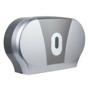Toilet Roll Dispenser Twin Mini Jumbo Silver Graphite, WR-CD-8012