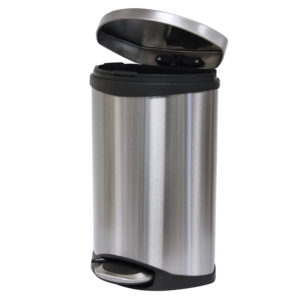 Pedal Bin 10ltr Soft Close Stainless Steel Black, WR-EK9218MT-10L