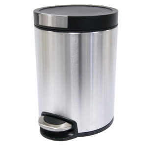 Pedal Bin Soft Close 5ltr Anti-Finger, Stainless Steel Black, WR-EK9225MT-5L.