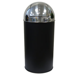 Push Bin 40ltr Stainless Steel Black, WR-EK9650NP-BL