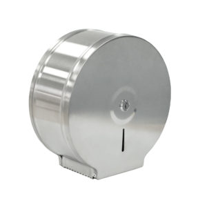 Toilet Roll Dispenser Mini Jumbo Brushed Stainless Steel