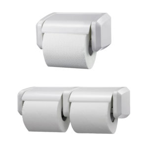 Toilet Roll Holder Double Roll White