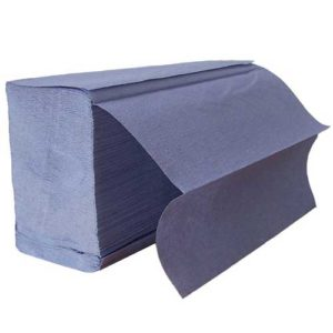 Z Fold Blue Paper Hand Towels 1ply