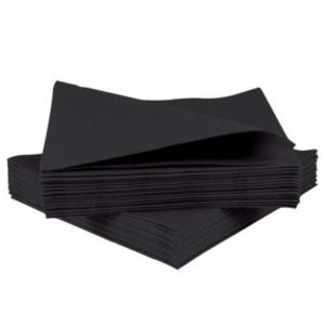 Black Airlaid Napkins 40cm Black 10x50 500's 4FOLD