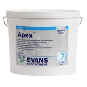 Evans Apex Chlorinated Powder Detergent Disinfectant, C009DEV