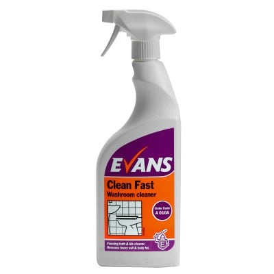 Evans Clean Fast Washroom Cleaner 6 x 750ml
