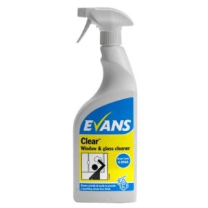 Evans Clear Window Glass & S/Steel Cleaner 750ml 6pk