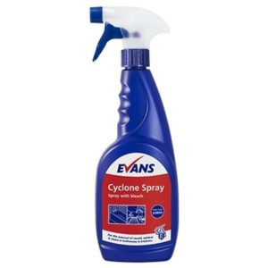 Evans Cyclone Spray with Bleach 12 x 750ml, A004AEV