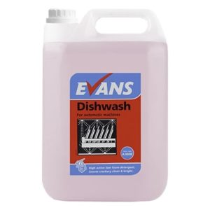 Evans Dishwash 5ltr, Hard Water