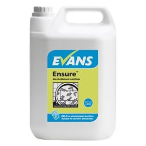 Evans Ensure Alcohol Sanitiser 5ltr