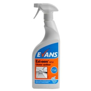 Evans EST-EEM Cleaner & Sanitiser 6 x 750ml