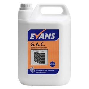 Evans G.A.C. General Acid Cleaner 5ltr, A076EEV2