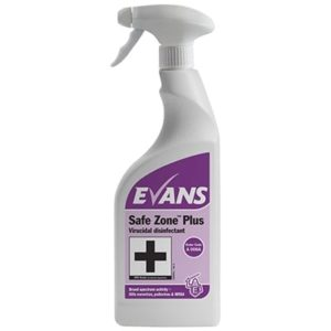 Evans Safe Zone Plus Disinfectant Cleaner 6 x 750ml