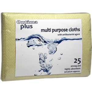 Multi Purpose Cloths Yellow 25pk