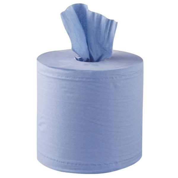 500 Sheet Centrefeed Blue Rolls 2ply