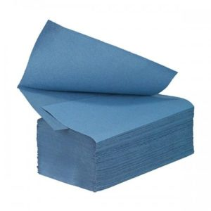 V Fold Paper Hand Towels 1ply Blue