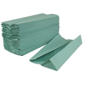 C Fold Hand Towels 1ply Green. Our most popular paper towel. 38gsm recycled tissue