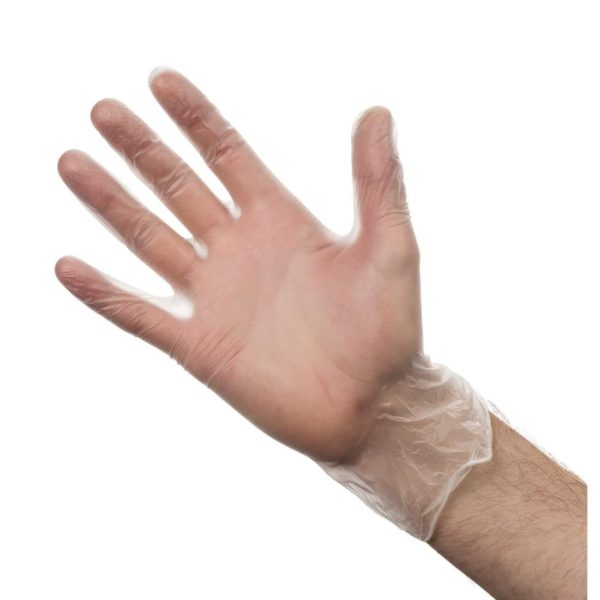 Vinyl Powder Free Gloves Small Clear 100's