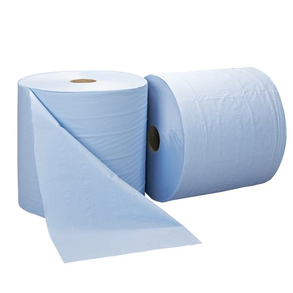 Jumbo Wiper Rolls 2ply Blue 1800 Sheet