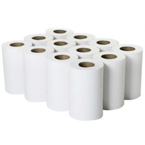 60m 2ply Mini Centrefeed Rolls White