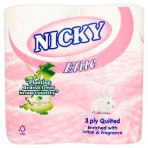 Nicky Elite 3ply Pink Toilet Rolls