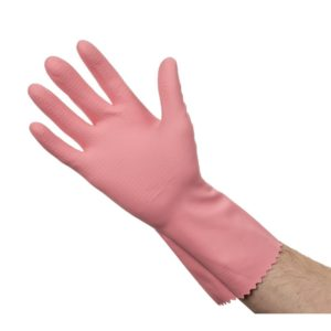 Rubber Gloves Pink Large 10pk