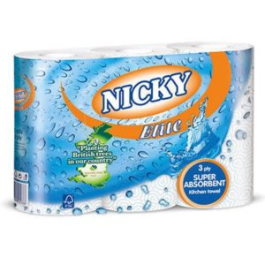Nicky Elite 3ply Kitchen Rolls