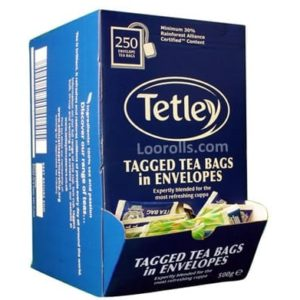 Tea Bags Tetley Enveloped 250's
