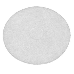 white floor pad polishing