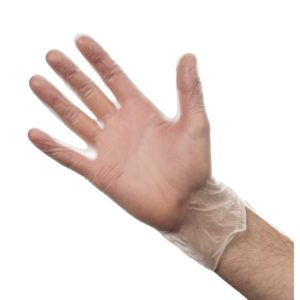 Vinyl Gloves Powder Free Clear Large 100's