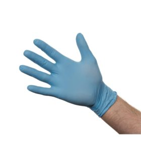 Nitrile Powder Free Gloves Blue Small 100's