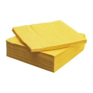 40cm 3ply Napkins Yellow 1000's