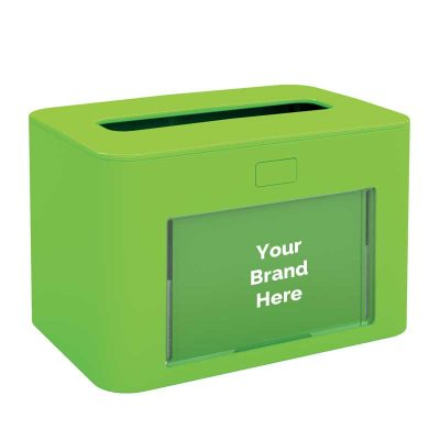 Interfold Napkin Dispenser Antibacterial Green 417198, papernet ready table
