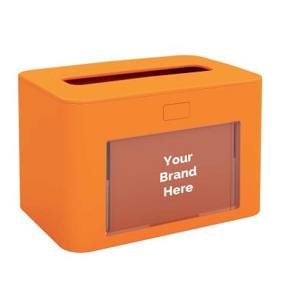 Interfold Napkin Dispenser Antibacterial Orange 417200, papernet ready table