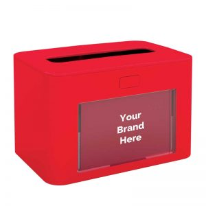 Interfold Napkin Dispenser Antibacterial Red 417199, papernet ready table